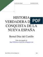 Historia Verdadera de La Conquista de La Nueva Espana--bernal Diaz Del Castillo