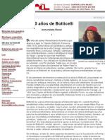 500 años de Botticelli