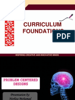 Problem Centered Curriculum