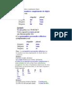La posición de los pronombres complemento objeto