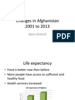 Changes in Afghanistan
