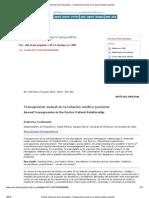 Revista chilena de neuro-psiquiatría - Transgresión sexual en la relación médico-paciente