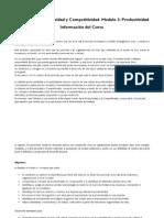 Cátedra de Productividad y Competitividad. Modulo 2. Productividad_Información del curso