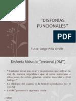 Disfonías Funcionales