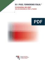 Programma di salvezza economica per l' ITALIA
