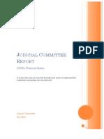 Judicial Committee Report