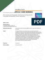 Critical Care Nursing