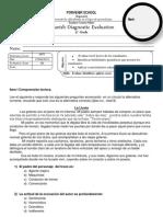 Diagnostico 4° grade Spanish