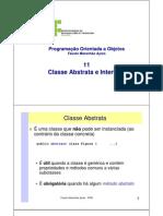 POO 11 ClassseAbstrata Interface