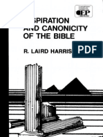 Inspiration and Canonicity of Scripture