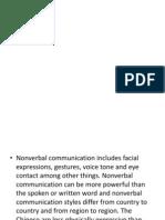 Non Verbal Comunication