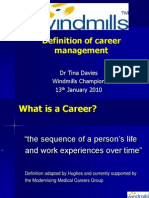 Tina Davies - Definition of Career Management