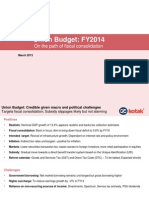 India Union budget fy14