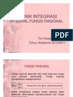 Pertemuan 4 Teknik Integrasi Integral Fungsi Rasional