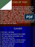 Analysis of Text