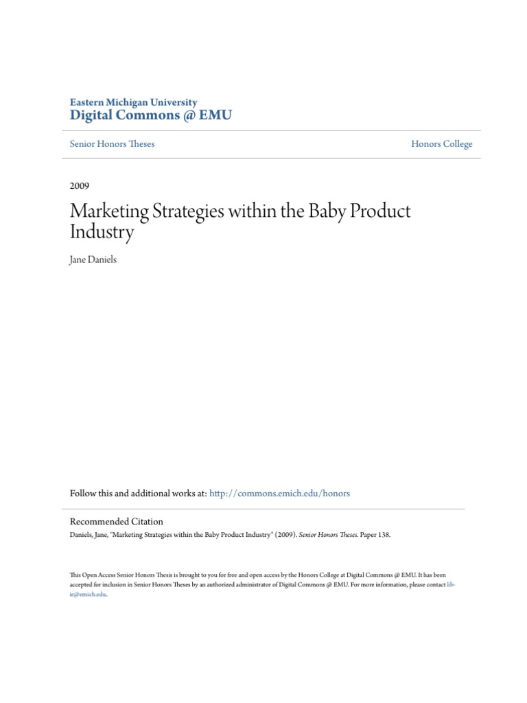 marketing strategies for baby products