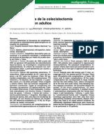 complicaciones de la cole laparoscópica