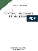 L'UNIVERS IMAGINAIRE De Mallarmé
