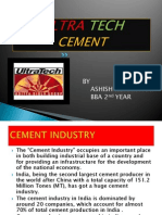 My Ppt Presentation on ULTRA TECH CEMENT -