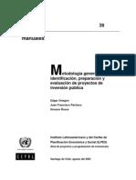 metodologia general para la identificacion , preparacion y evaluacion de proyectos de inversion publica -cepal.pdf
