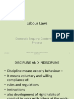 Labour Laws - Domestic Enquiry-Contents and Process