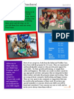 New Teacher EY Newsletter 2013
