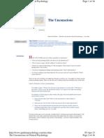 Unconscious Defense Mechanism
