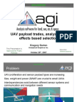 UAV Payload Trades Analysis and Effects Based Selection