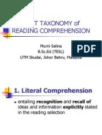Barrett's Taxonomy