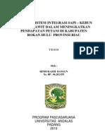 Analisis Sistem Integrasi Sapi