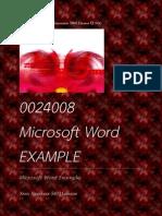 Part 2 Program Word 0024008 (Class work, not homework)