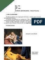 Apostila 1-Neo Classicismo Romantismo Escola Barbizon Realismo Brasil