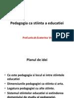 Pedagogia CA Stiinta a Educatiei