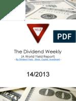 Dividend Weekly 14_2013