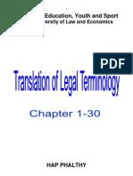 Legal Terminology Translation 1 30