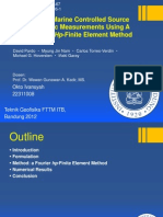 Simulation of Marine Controlled Source Electromagnetic Measurements Using a Parallel Fourier Hp-Finite Element Method