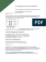 Menghitung Harga Pekerjaan Kusen Aluminium