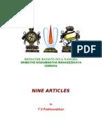 Nine Articles on Vaishnavism and Culture