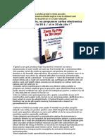 De La 0 La 50 $ Zi in 30 de Zile! E-book - Cum Sa Produci Bani Lucrand in Internet;