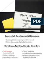 DDx For Diarrhea & Weight Loss