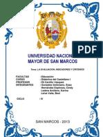 Monografia - La Evaluacion Criterios e Indicadores