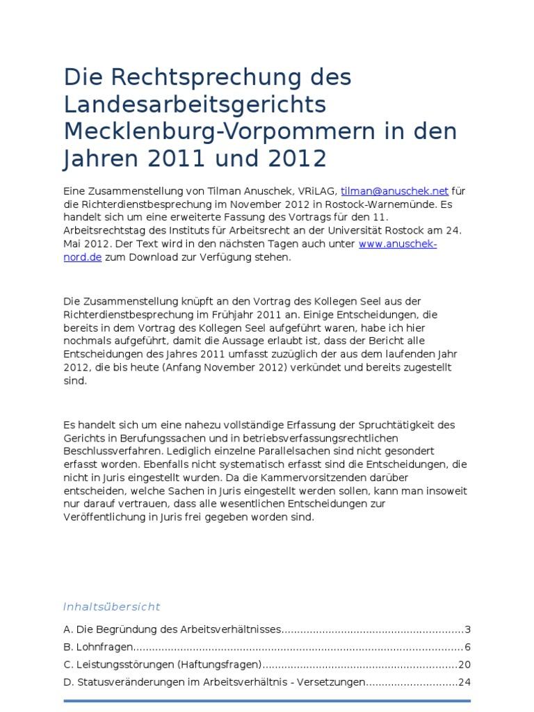Anuschek Rsp Lag Mv 2011 2012 Mit Stand November 2012