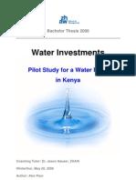 BA Thesis_WaterFundKenya_Kenya Water System