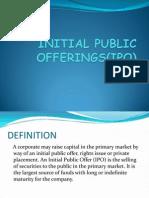 Initial Public Offerings