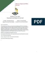 Mark Master Masons Province of Cornwall, Provincial Agenda 2011