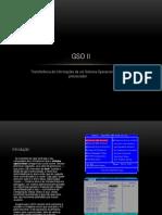 Transferência de informações de um Sistema Operacional para o processador