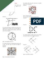 Matematica Recreativa - Cerillos - Rectas - Puntos - Pescado - Templo Girego