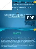 Final Ppt 5thapril intelligent vehicle parking management system