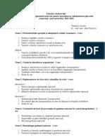Tematica Seminarelor Managementul Anticriza