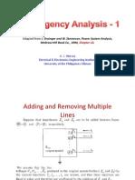 Contingency Analysis 1